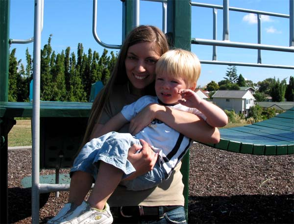 Me and my little Jaceb at the playground